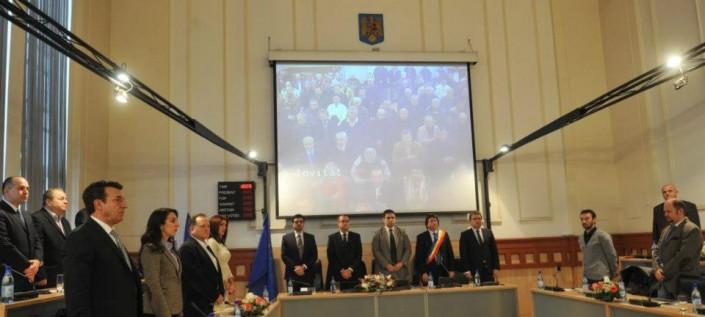 Ședința festivă a Consiliului Local Timișoara prilejuită de comemorarea începerii Revoluției din 1989, decembrie 2012