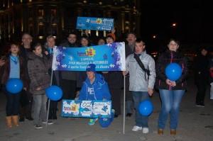 """Acțiune """"Pentru Voi iluminează în albastru Timișoara, 2015 2"""