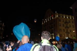"""Acțiune """"Pentru Voi iluminează în albastru Timișoara, 2015 3"""