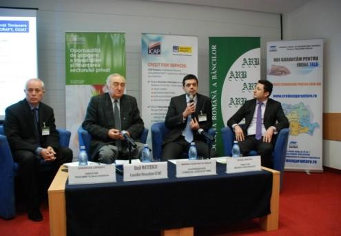 """Participare la conferința """"Oportunităţi de atragere a investiţiilor şi finanţarea sectorului privat"""", noiembrie 2012"""