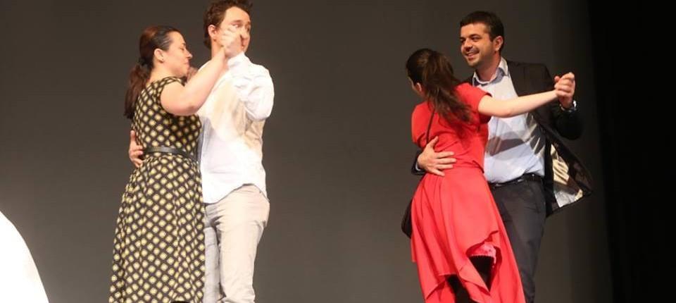 """Pe scena alaturi de actorii piesei de teatru """"Te iubesc! Te iubesc"""" 6"""
