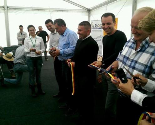 Participare la deschiderea expoziției regionale AgriPlanta Vest, septembrie 2014