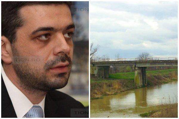 Podul peste Bega din Sanmihaiu Roman intra in reparatii, 2014 1