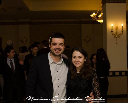 Impreună cu noul președinte al organizației AIESEC Timișoara, la aniversarea a 22 de ani de existență, martie 2015